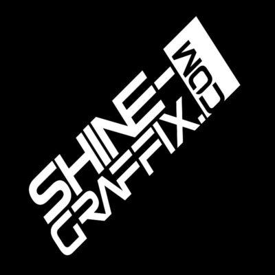 Shine Graffix decal logo website