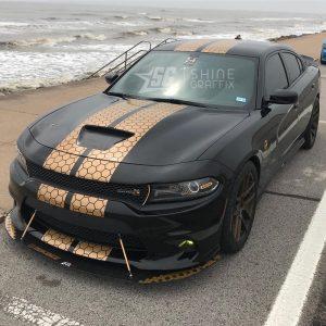 SRT dodge charger honeycomb racing stripes scat pack