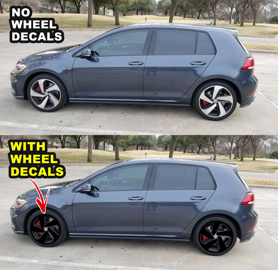 2018 VW GTI MK7 5 WHEELS DECALS for 18