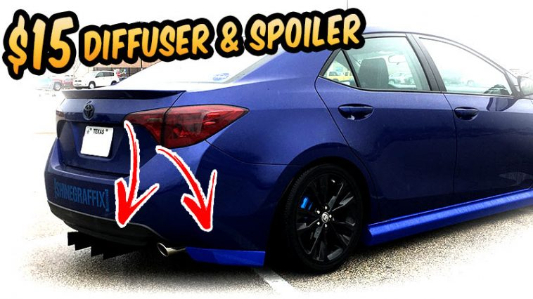 $15 Rear Bumper spoiler & Diffuser 2017 Corolla. cheap body kit challenge
