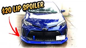$20 Front Bumper Lip Spoiler - Cheap Body kit Challenge 2017 Corolla