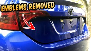 how to remove the emblem badge