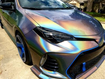 Toyota corolla headlight Black tint 2017 2018 2019 Side