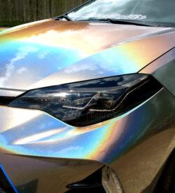 Toyota corolla headlight Black tint 2017 2018 2019 light