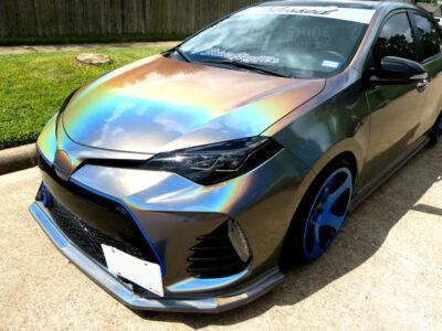 Toyota corolla headlight Black tint 2017 2018 2019 driver side