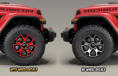 Jeep Rubicon JL wheel-decals 2018 before and after