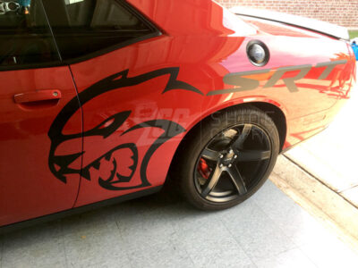 srt dodge challenger hellcat decal sides
