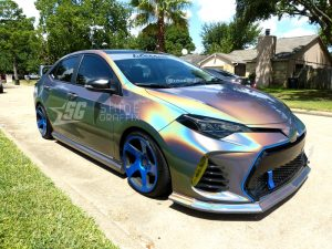 yellow tint front drl lights 2017 corolla SE side view
