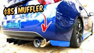 $85 Ebay Exhaust system Muffler 2017 Toyota Corolla install