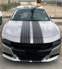 Dodge Charger honeycomb racing stripes