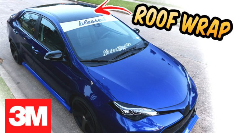 Roof wrap 3M 1080 Gloss black Install 2017 Corolla SE