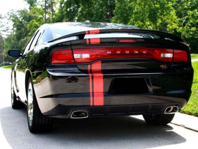 "universal rally stripe 6"" wide charger rear"