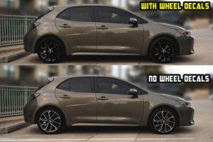 2020 corolla Hatchback se xse Black wheel decals