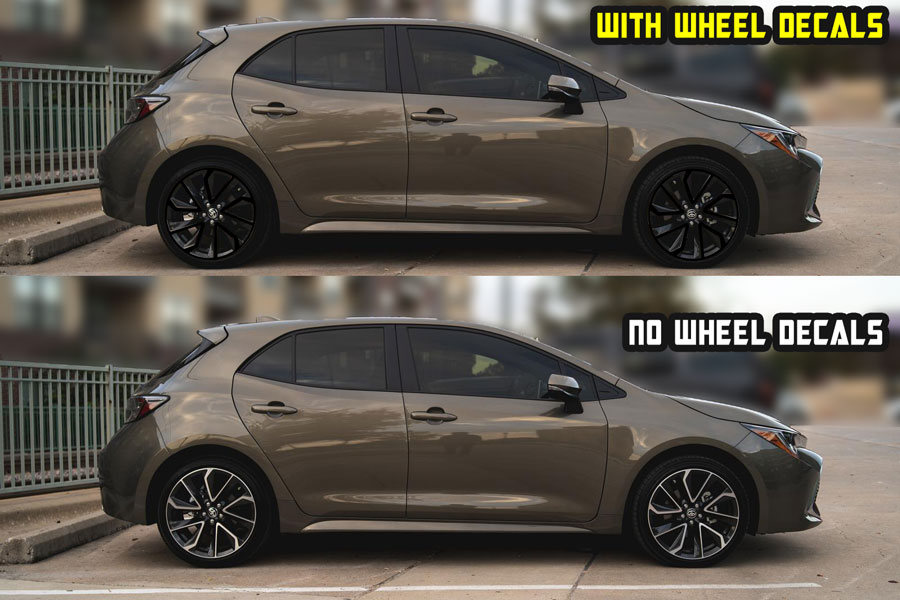 2020 corolla Hatchback se xse Black wheel decals