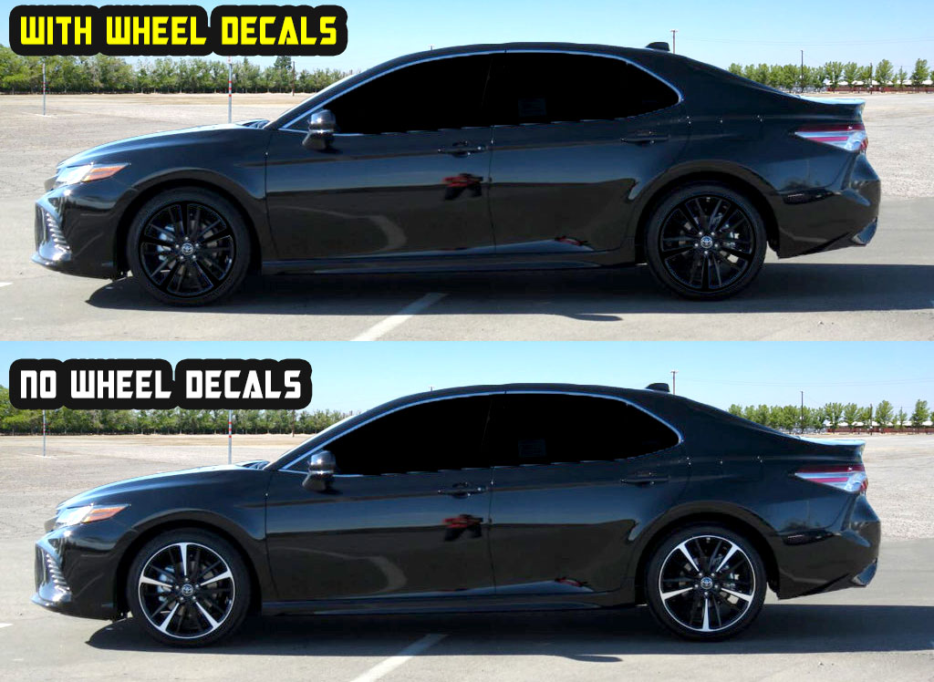 2019 toyota camry xse 19 Black wheel decals blue