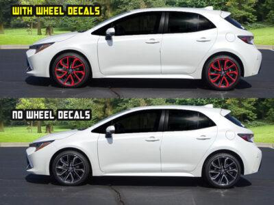 2020 corolla hatchback XSE wheel decals