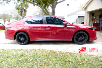 2020 toyota camry Black wheels decals Side