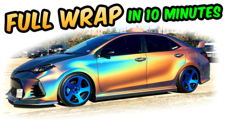 Full Wrap 3M HOLOGRAPHIC COROLLA in 10 minutes 3M 1080 psychedelic