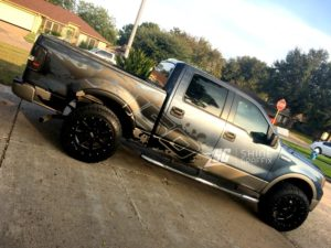 Ford F-150 Splash Side Graphics Kit matte black