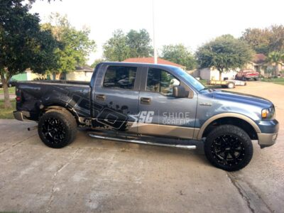 best Ford F-150 Splash Side Graphics Kit matte black