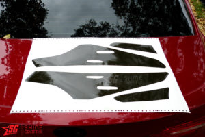 2020 Toyota Camry Tail Lights Tint Inserts black