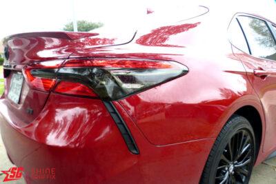 2020 Toyota Camry Tail Lights Tint Inserts Dark Black