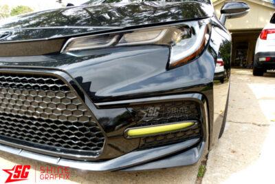 2020 Corolla SE XSE DRL tint overlays front
