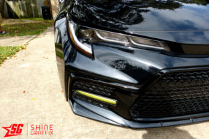 2020 Corolla SE XSE DRL tint overlays black sedan