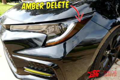 2020 Toyota Corolla Headlights Amber delete Decals tint side
