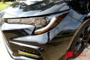 Black 2020 Toyota Corolla Headlights Eyelids Decals - sedan & Hatchback