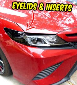 2020 toyota camry eyelids AMBER Delete inserts Headlights