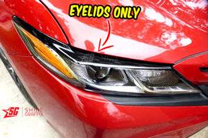 2020 Toyota Camry black eyelids only Headlights