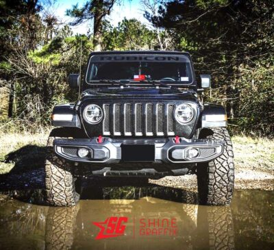 Jeep Rubicon WINDSHIELD Banner Matte Black Front