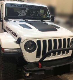 Jeep Rubicon WINDSHIELD Banner side view