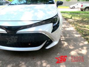 2020 corolla hatchback front bumper inserts Black