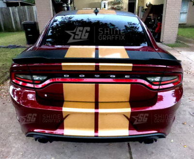 Dodge Charger Daytona 11 in Dual Racing Stripes-Rear view
