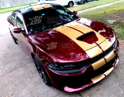 Dodge Charger Scat pack 2021 11 in Dual Racing Stripes Side view